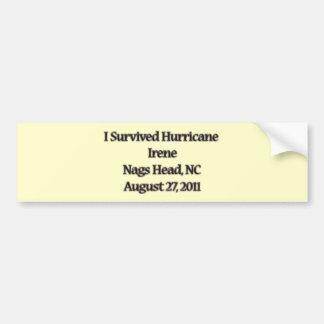 I Survived Hurricane Irene NC Bumper Sticker