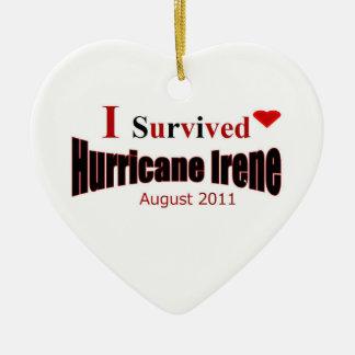 I Survived Hurricane Irene Ornament