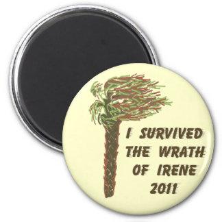 I Survived Hurricane Irene - Tan Magnet