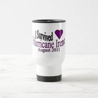 I Survived Hurricane Irene Travel Cup Coffee Mugs
