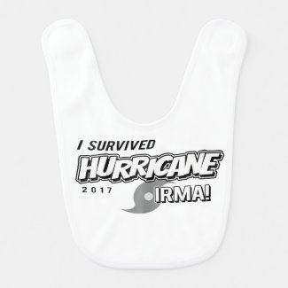 I Survived Hurricane Irma Baby Bib