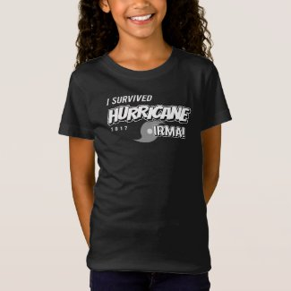 I Survived Hurricane Irma Girls T-Shirt