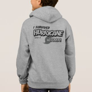 I Survived Hurricane Irma Kids Zip Hoodie