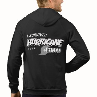 I Survived Hurricane Irma Mens Zip Hoodie