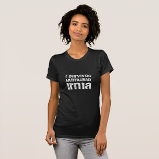 I Survived Hurricane Irma Modern Typography T-Shirt