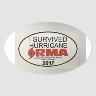 I Survived Hurricane IRMA OVAL Decal Oval Sticker