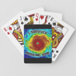 """I Survived Hurricane Irma Playing Cards<br><div class=""""desc"""">These colorful playing cards will blow you away!</div>"""