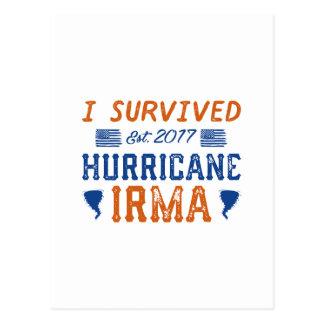 I Survived Hurricane Irma Postcard