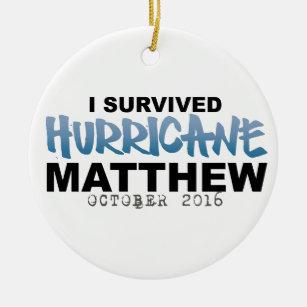 I Survived Hurricane Matthew October 2016 Ceramic Ornament