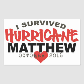 I Survived Hurricane Matthew October 2016 Rectangular Sticker