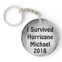 I Survived Hurricane Michael Keychain