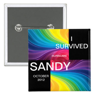 I SURVIVED HURRICANE SANDY 2012 BUTTONS
