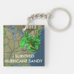 I SURVIVED HURRICANE SANDY ACRYLIC KEY CHAIN