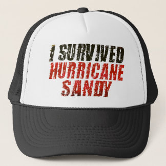 I Survived Hurricane Sandy Distressed Hat (black)