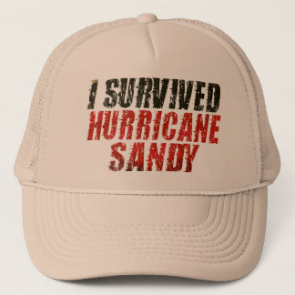 I Survived Hurricane Sandy Distressed Hat (khaki)