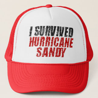 I Survived Hurricane Sandy Distressed Hat (red)