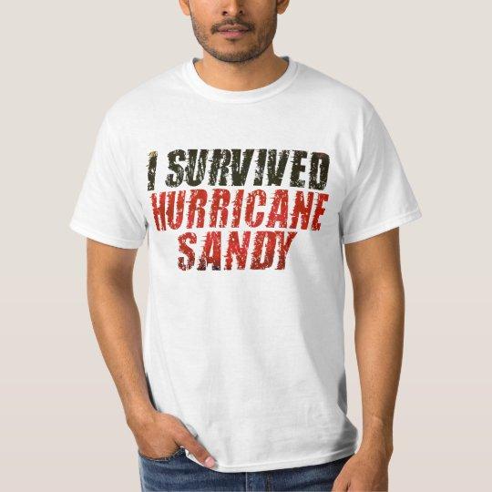 I Survived Hurricane Sandy Distressed T-shirt