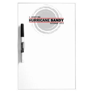 I Survived Hurricane Sandy Dry Erase Boards