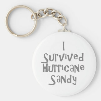 I survived Hurricane Sandy Gray.png Basic Round Button Keychain