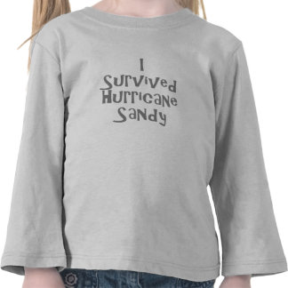 I survived Hurricane Sandy Gray.png T-shirts