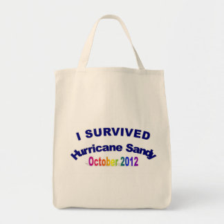 I Survived Hurricane Sandy Grocery Tote Bag