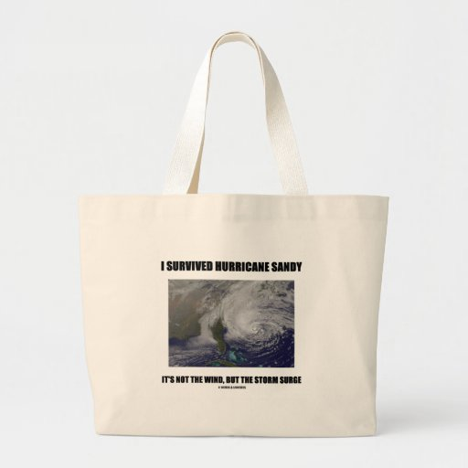 I Survived Hurricane Sandy It's Not The Wind But Jumbo Tote Bag