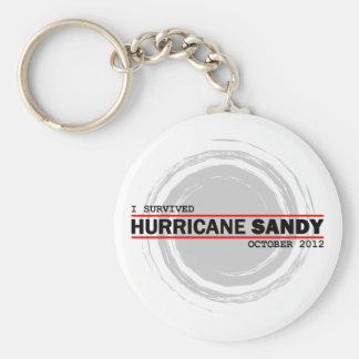 I Survived Hurricane Sandy Basic Round Button Keychain