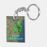 I SURVIVED HURRICANE SANDY Double-Sided SQUARE ACRYLIC KEYCHAIN
