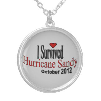 """I Survived Hurricane Sandy"" Necklace"
