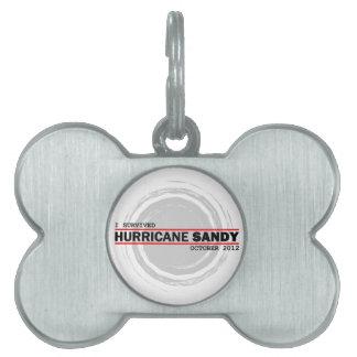 I Survived Hurricane Sandy Pet Name Tags