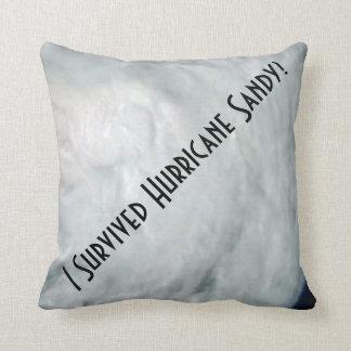 I Survived Hurricane Sandy! Throw Pillows