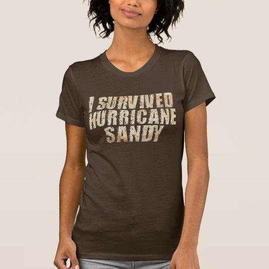 I Survived Hurricane Sandy Sand Distressed T-shirt