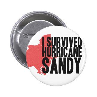 I Survived Hurricane Sandy  T-Shirt Pin