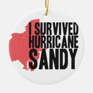 I Survived Hurricane Sandy  T-Shirt Ceramic Ornament