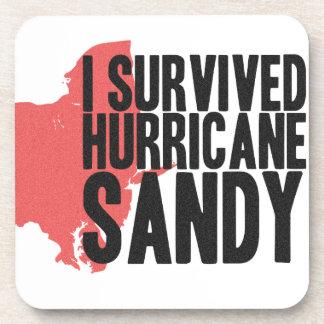I Survived Hurricane Sandy  T-Shirt Drink Coaster