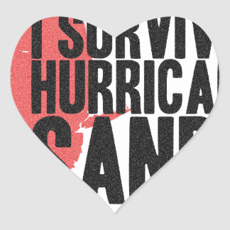 I Survived Hurricane Sandy  T-Shirt Heart Sticker