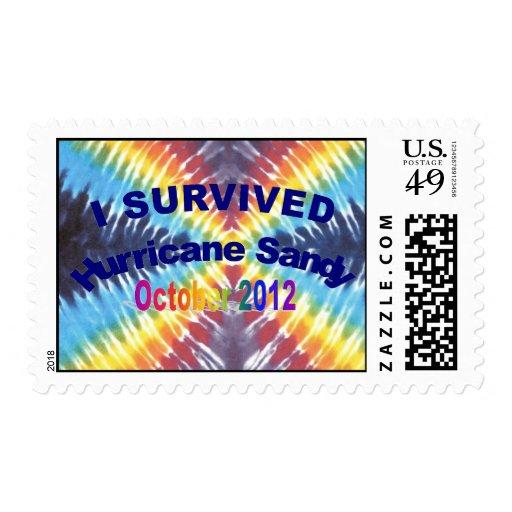 I Survived Hurricane Sandy USPS Postage Stamps