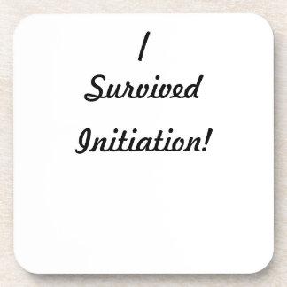I survived initiation! beverage coaster