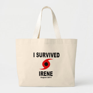 I SURVIVED IRENE August 2011 Canvas Bags