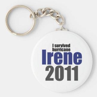 I Survived Irene Basic Round Button Keychain