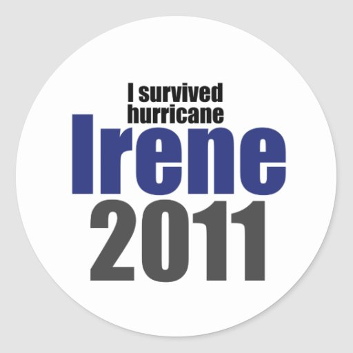 I Survived Irene Stickers