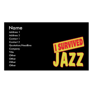 I SURVIVED JAZZ Double-Sided STANDARD BUSINESS CARDS (Pack OF 100)