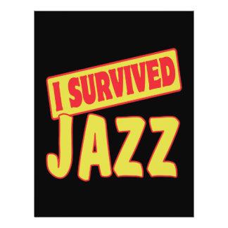 I SURVIVED JAZZ FLYER DESIGN