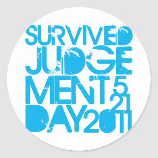 I Survived Judgment Day 2011 Classic Round Sticker