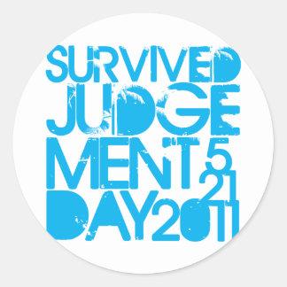 I Survived Judgment Day 2011 Round Sticker