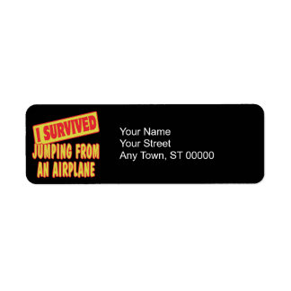 I SURVIVED JUMPING FROM AN AIRPLANE RETURN ADDRESS LABEL