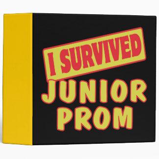 I SURVIVED JUNIOR PROM 3 RING BINDER