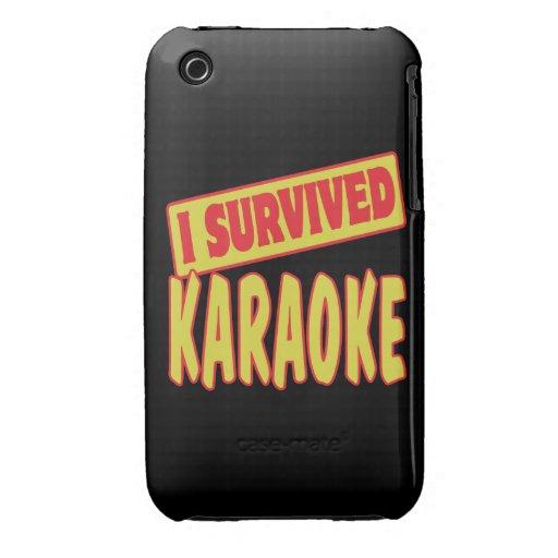 I SURVIVED KARAOKE iPhone 3 CASES