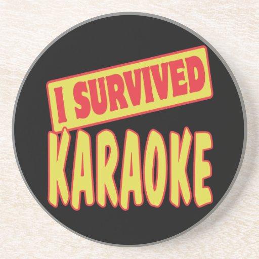 I SURVIVED KARAOKE COASTER