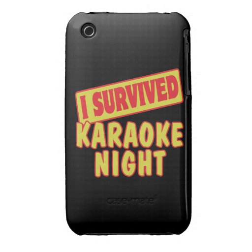 I SURVIVED KARAOKE NIGHT Case-Mate iPhone 3 CASES